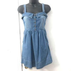 Forever 21 Chambray Mini Jean Denim Dress